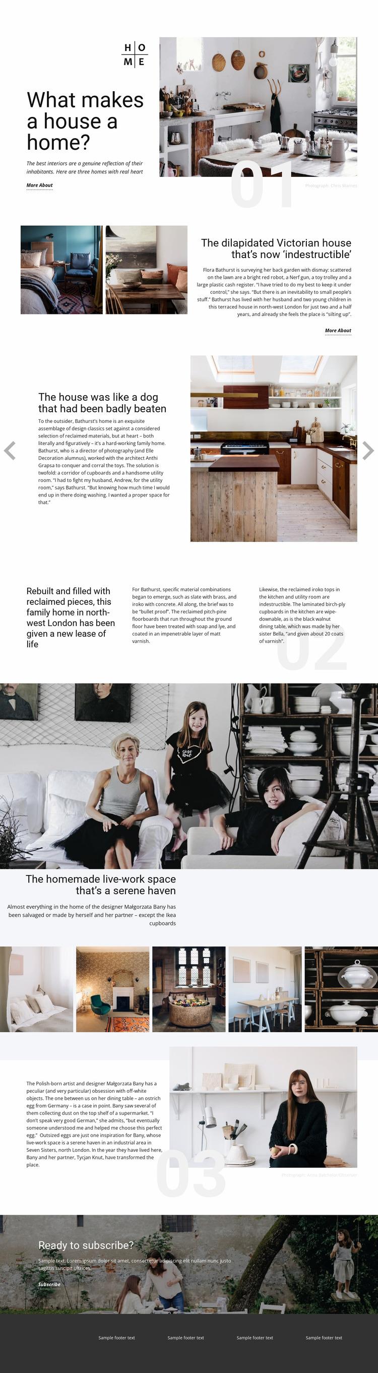 Your Home Website Mockup