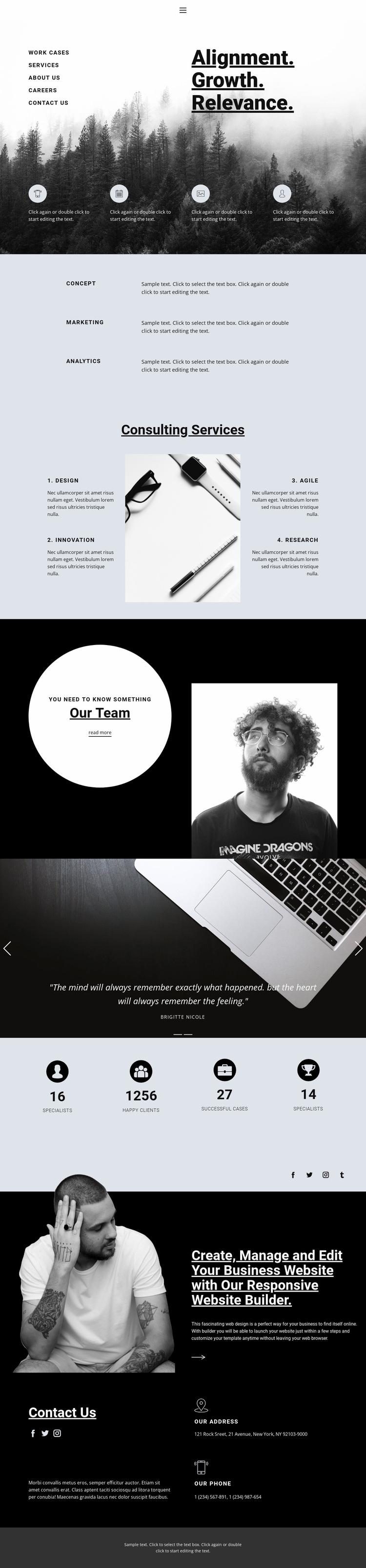 Your success depends on you Website Design