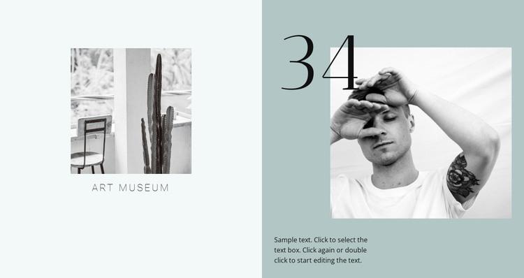 Art design museum  HTML Template