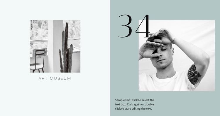 Art design museum  Website Template