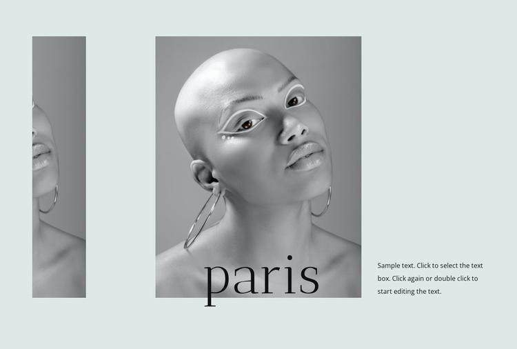 France fashion week Website Template