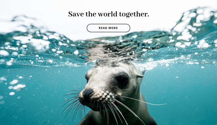 Save the world together One Page Template