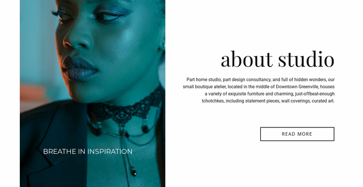 Makeup salon Website Mockup
