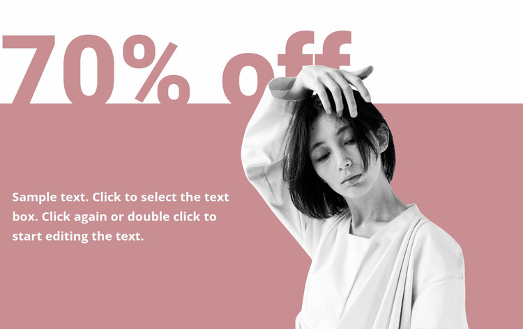 Past collection sale Website Template