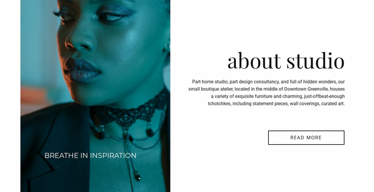 Makeup salon WordPress Website Builder
