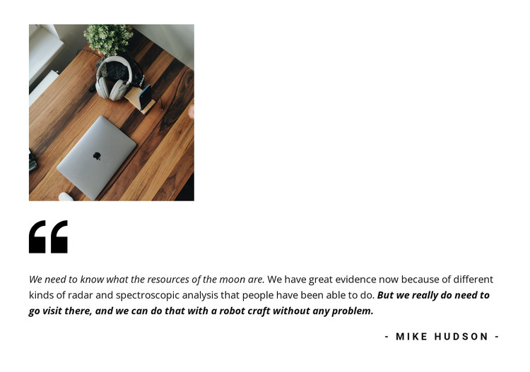 Quote testimonials HTML Template