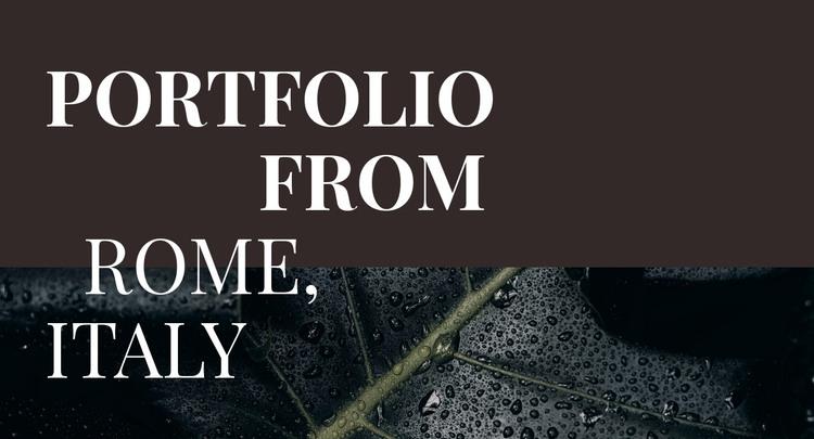 Our art portfolio HTML Template