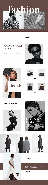 Stylist beauty tips Website Design