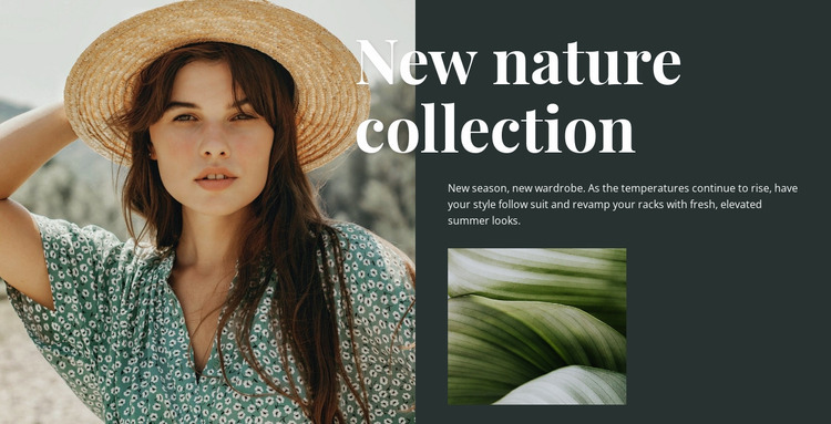 Nature fashion collection Website Mockup