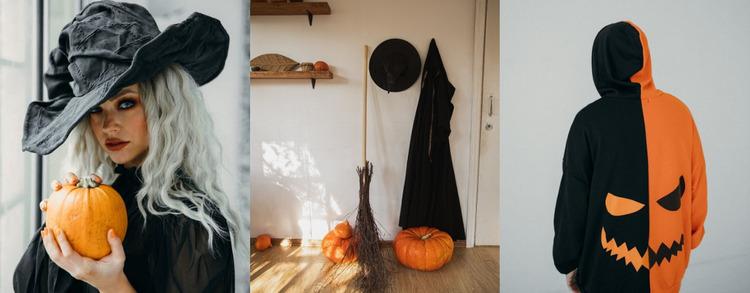 Halloween art gallery Website Mockup