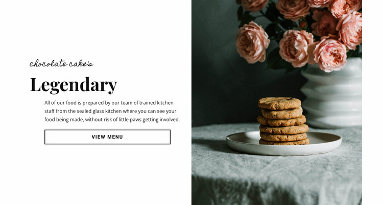 Chocolate cake food Landing Page