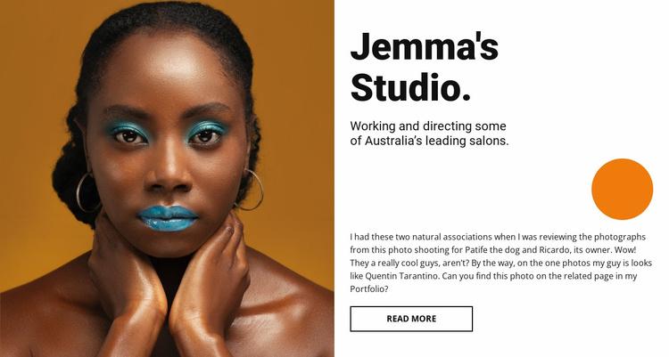 Evening make-up Website Template