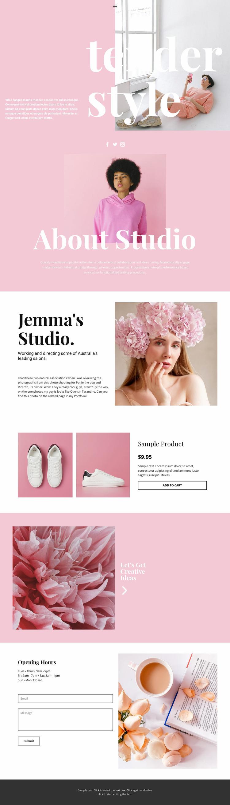 Fashion news Web Page Design