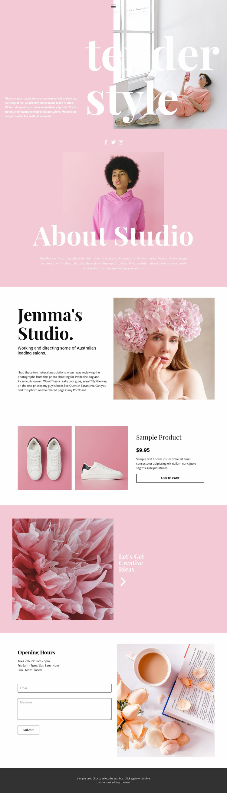 Fashion news Web Page Designer