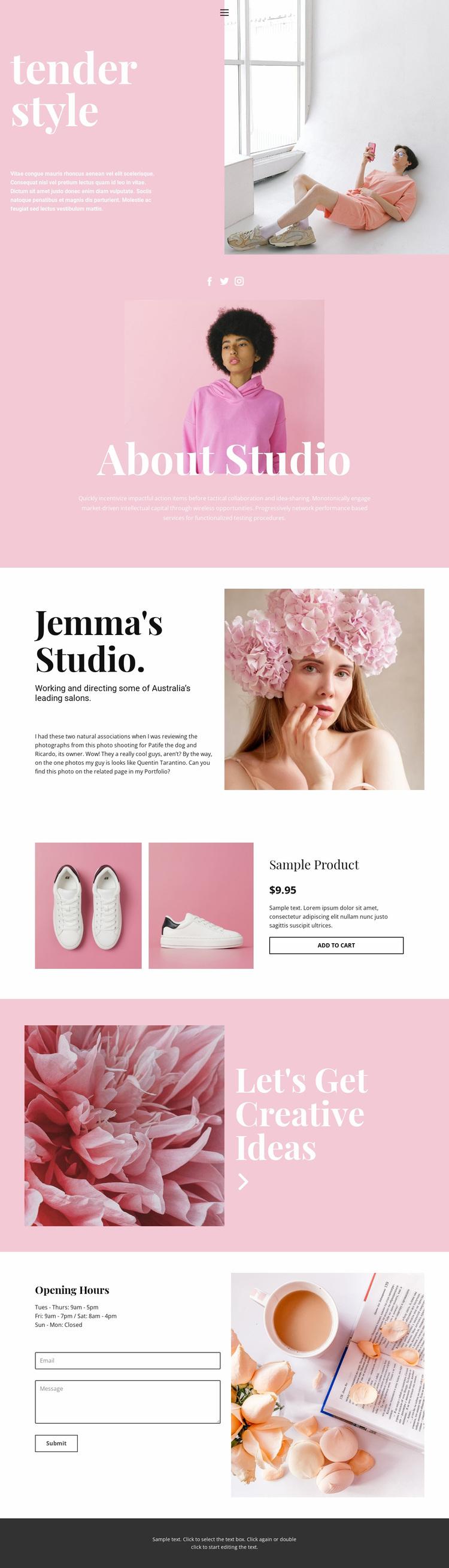 Fashion news Website Design