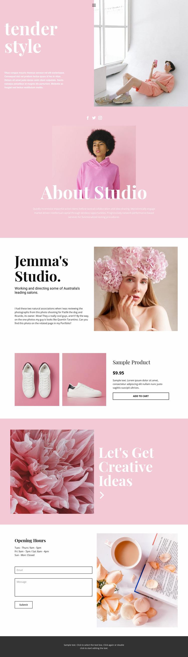 Fashion news Website Mockup