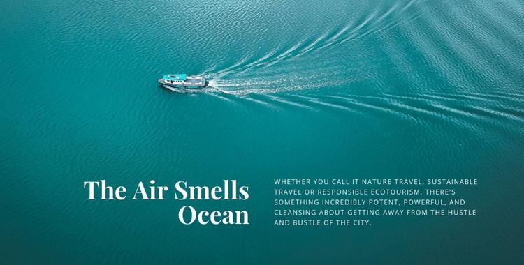 The air smells ocean Homepage Design