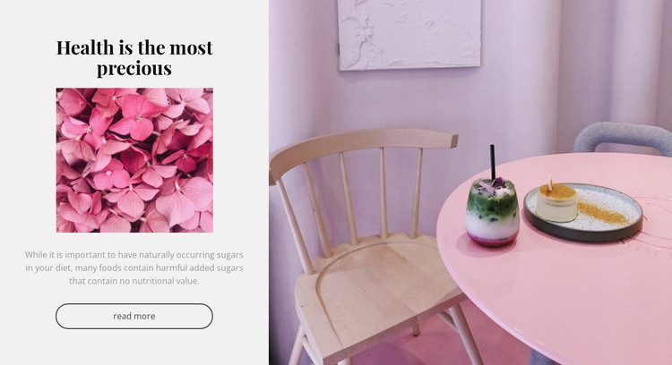 Healthy food ideas HTML Template