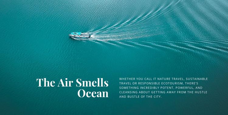The air smells ocean Html Website Builder