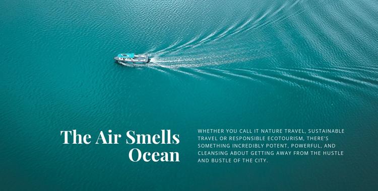 The air smells ocean Joomla Page Builder