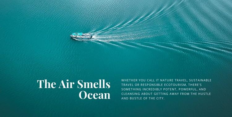 The air smells ocean Static Site Generator