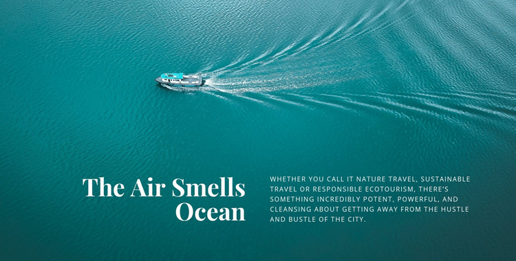 The air smells ocean Web Page Design