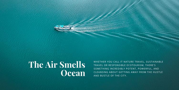 The air smells ocean Website Builder Software