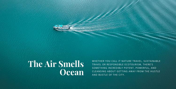The air smells ocean Website Design