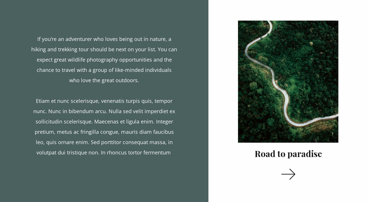 Road to paradise Website Template
