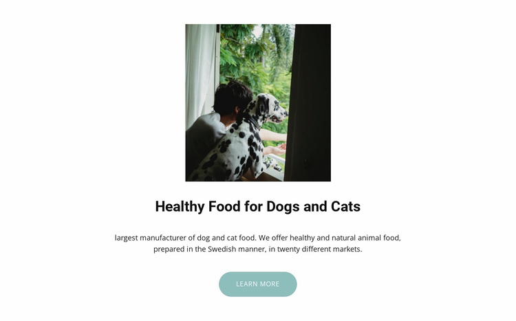 Food for pets Website Template