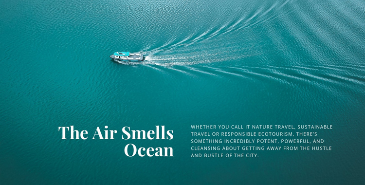 The air smells ocean Landing Page