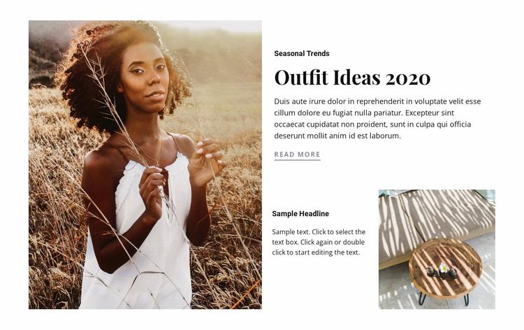 Outfit ideas Website Design