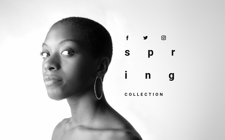 Spring jewelry collection Website Template