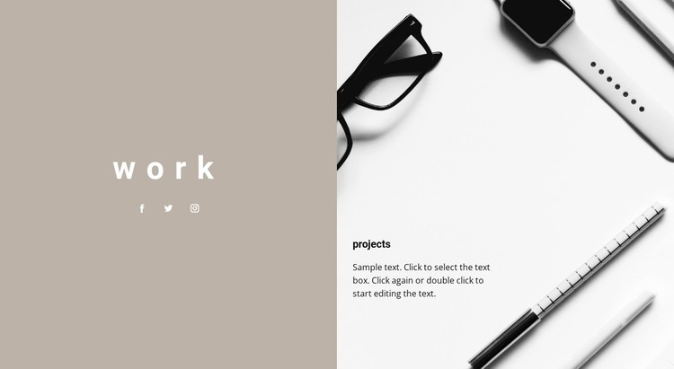 Our projects CSS Template