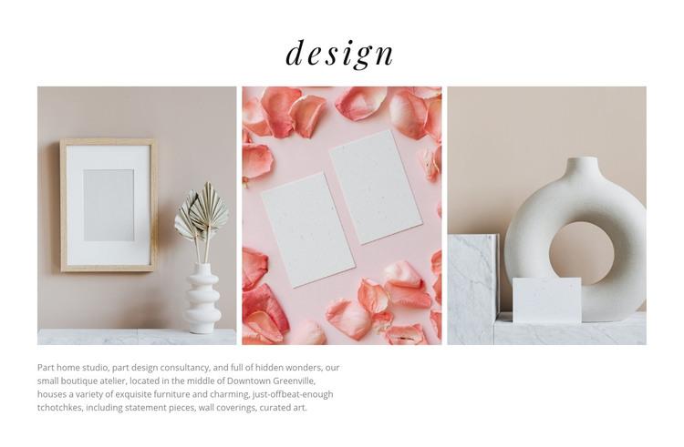 Beautiful vases Homepage Design