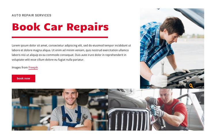 Book car repairs HTML Template