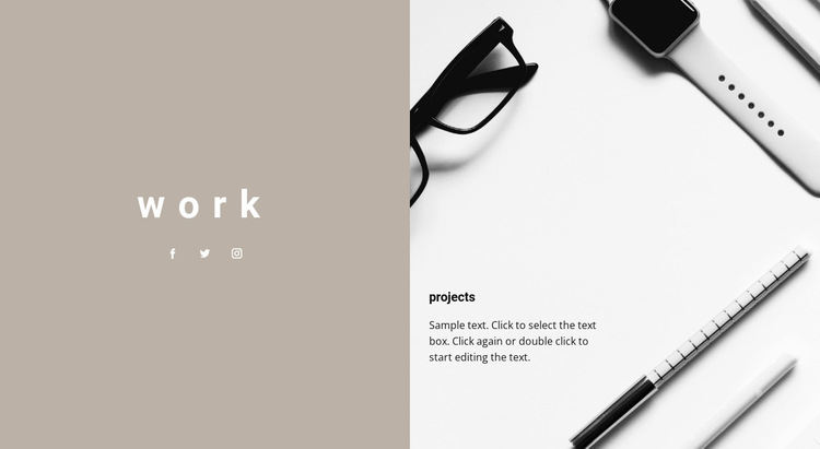 Our projects HTML5 Template