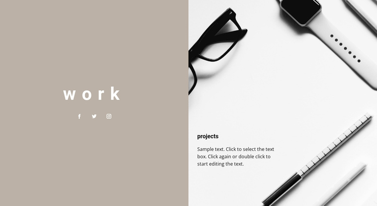 Our projects One Page Template