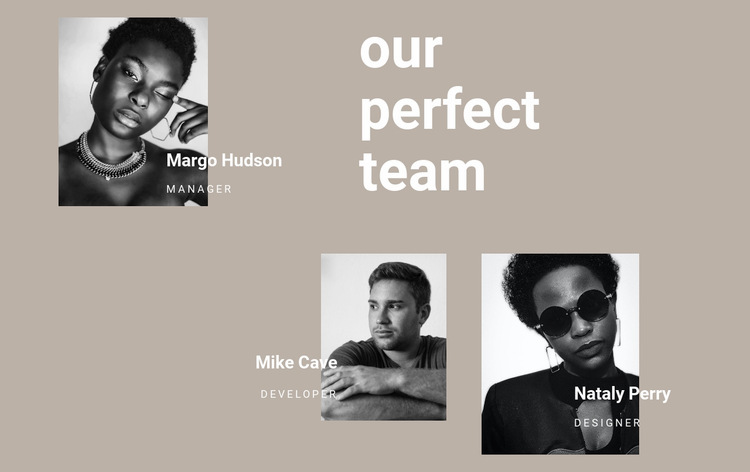 Team of hairdressers Web Page Design