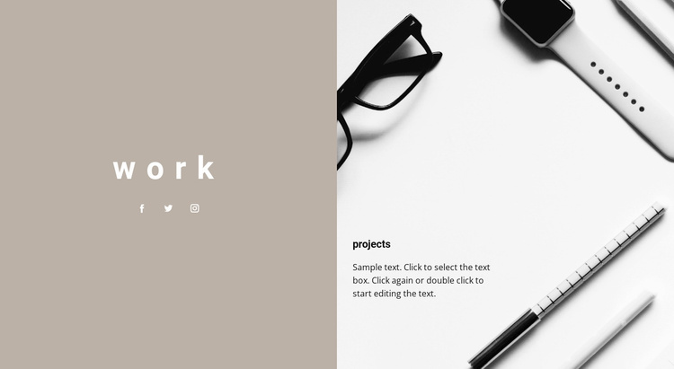 Our projects Website Template