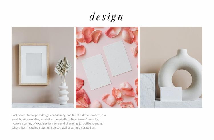 Beautiful vases Website Template