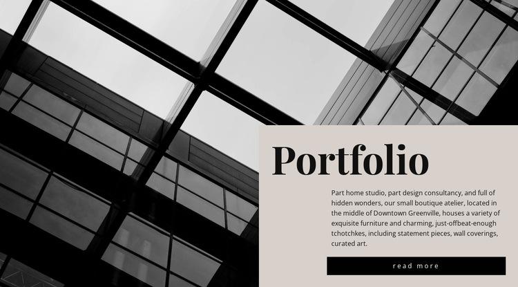 Our portfolio HTML5 Template