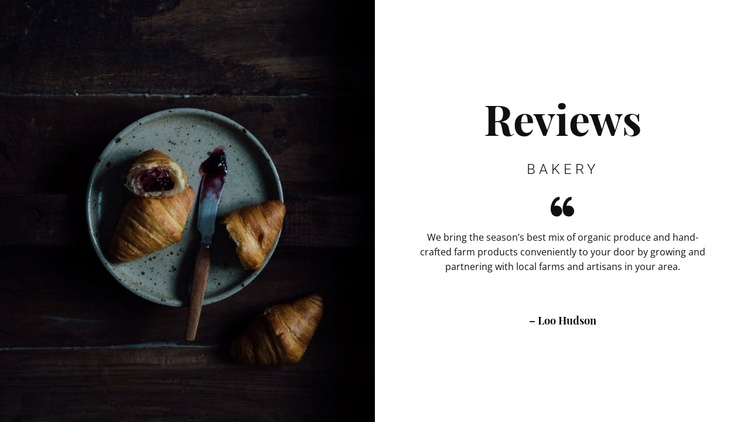Our reviews One Page Template