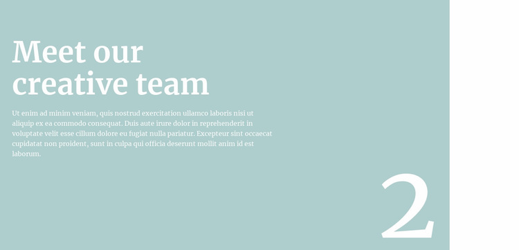 We will tell you about the team Web Page Design