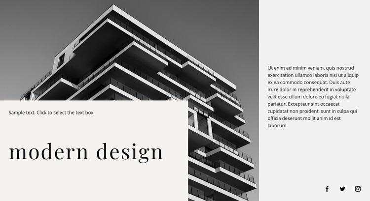 Modern building Web Page Designer