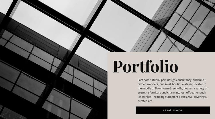 Our portfolio Website Template