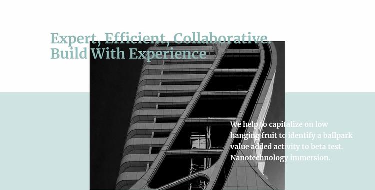 Building experts Html Website Builder