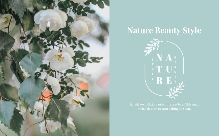 Nature beautiful style Website Builder Software