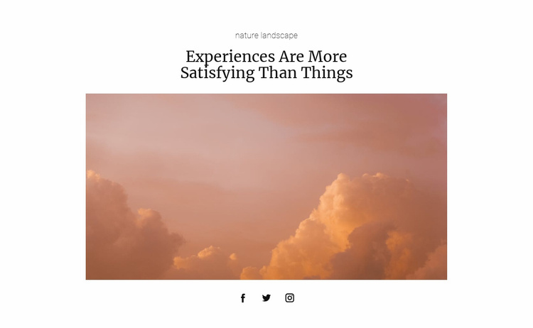Nature photografer Landing Page