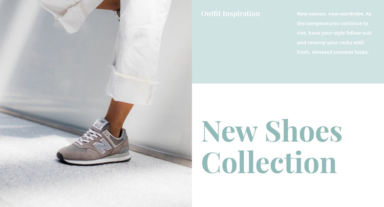 New shoes collection Website Builder Software